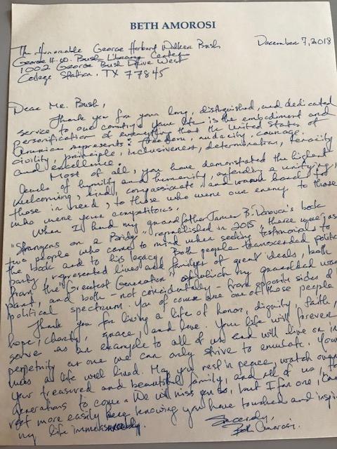 George HW Bush Letter